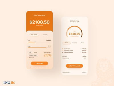 Loan calculator concept redesign concept inspiration ui design minimal interface clean dailyui app design neumorphism loan calculator calculator ui banking app
