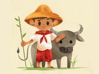 Filipino Farmer Boy