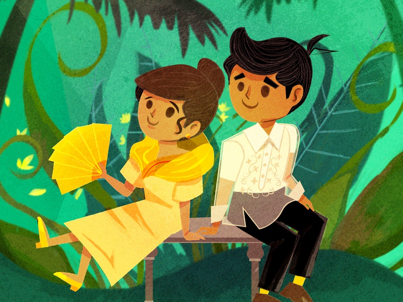 Couple In Traditional Filipino Clothing By Jake Russell Gavino On