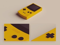 Low Poly Gameboy