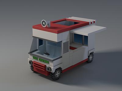 Ice cream cart c4d