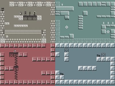Simple Duotone game tiles game pixel 2d tiles platform duotone minimal