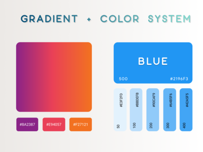 Gradient + Color System