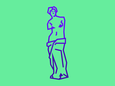 Venus de Milo character minimal antiquity nude icon illustration mark museum statue sculpture milo venus
