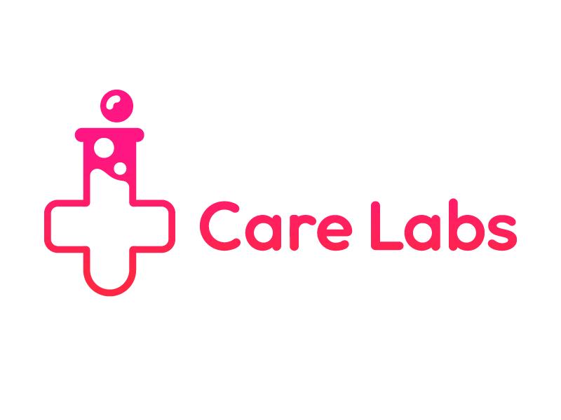 Care Labs customtype lettering logo mark symbol trademark type typography flat design minimal icon