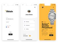 Obtain App Design
