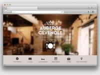 New website Auberge Cévenole