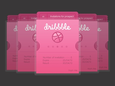 Invitation Dribbble invitation dribbble