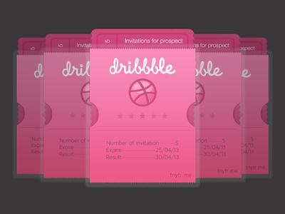 Invitation Dribbble invitation dribbble