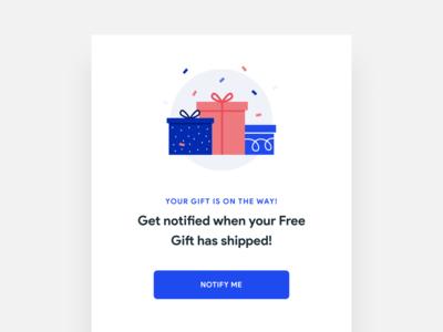 Free Gift Push Notification Popup