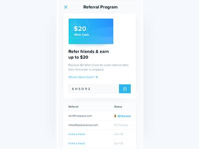 Referral Program refer giftcard bonus cash referral
