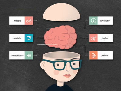 The mind of a technical illustrator info graphic technical information infographic vector illustration