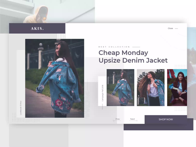 AKIS: Landing page animation website web video photo typography motion animatio anim e commerce layouts element clean grid carousel ui ux design landing page fashion