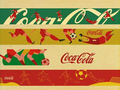 Coca-Cola football glass labels