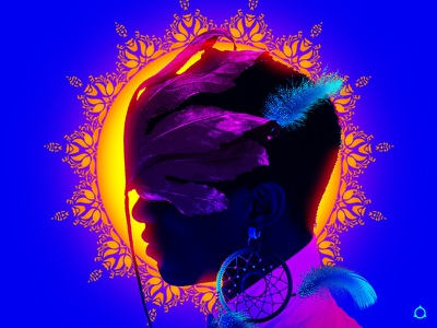 🏵️📿✧˖° black male model black lives matter bohemian jewelry foliage pretty beautiful sun feather black artist vibes aesthetics vaporwave retrowave neon dreamcatcher queer boy gay illustration