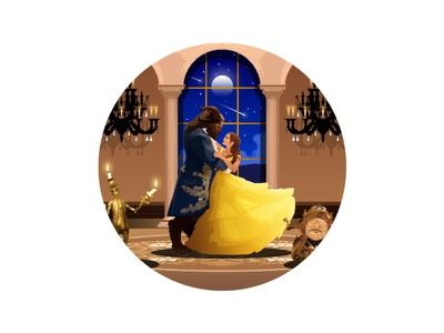 [1] Beauty and the Beast cogsworth lumiere belle fairytale disney beautyandthebeast