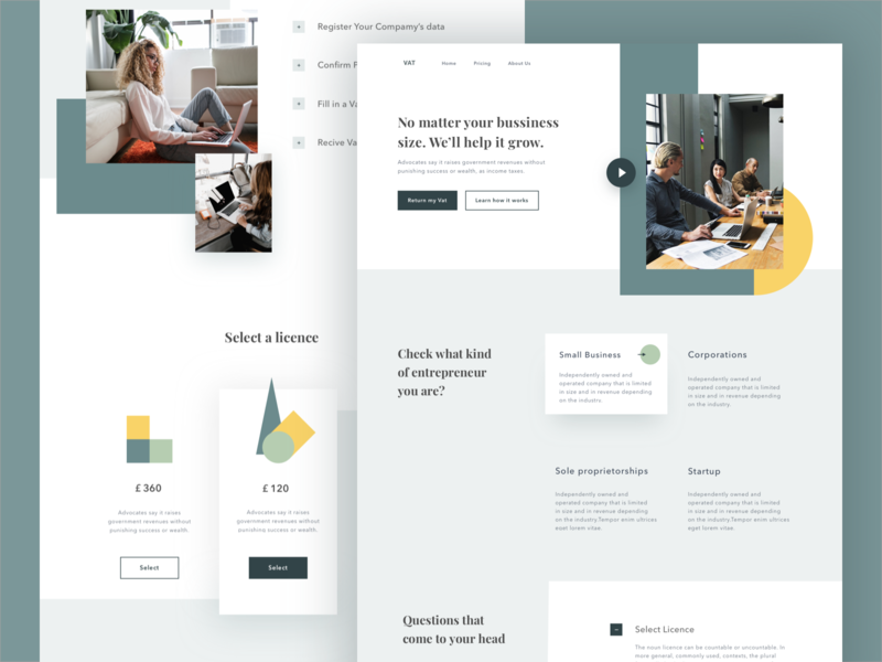 Product Landing Page landingpage green objectivity modern clean interface simple design webdesign ui landing page business