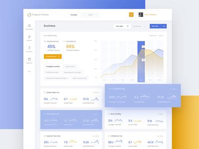 Finance App Business subpage ux ui objectivity karbowska finance dashboard calendar business app