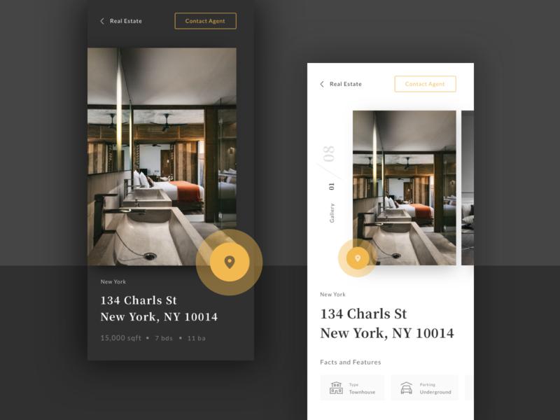 Real Estate App sketch iphonexs detail design design app ui ux app real estate app real estate