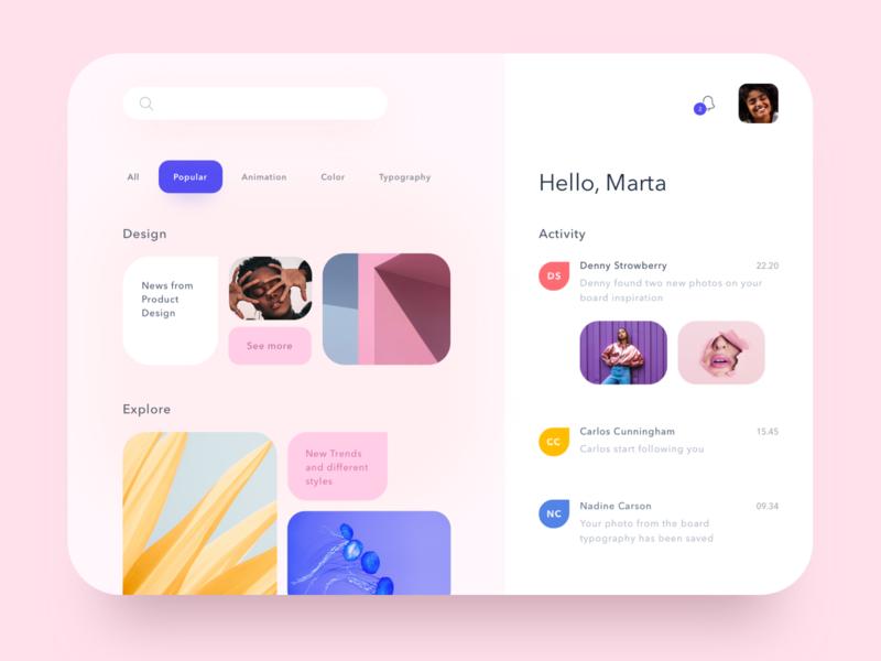 Pink Layout colors uiux sketch webdesign design layout design layout pink ui app