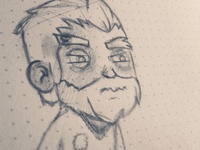 angry guy sketch