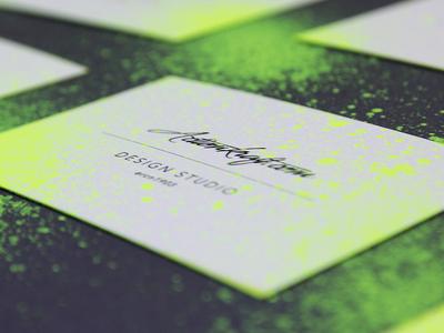 Business Card Customization business card customization graffiti grafitti neon ink splash