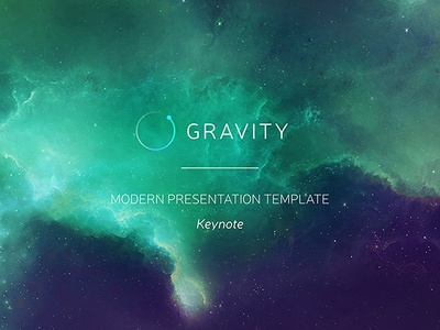 Gravity keynote presentation template by ergn dribbble gravity keynote presentation template toneelgroepblik Gallery