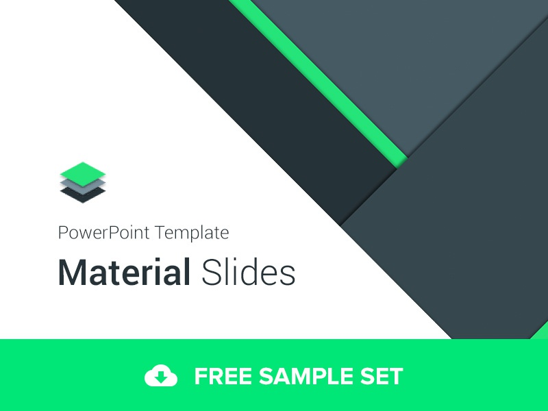 Material Design PowerPoint Template By Erg N Dribbble Dribbble