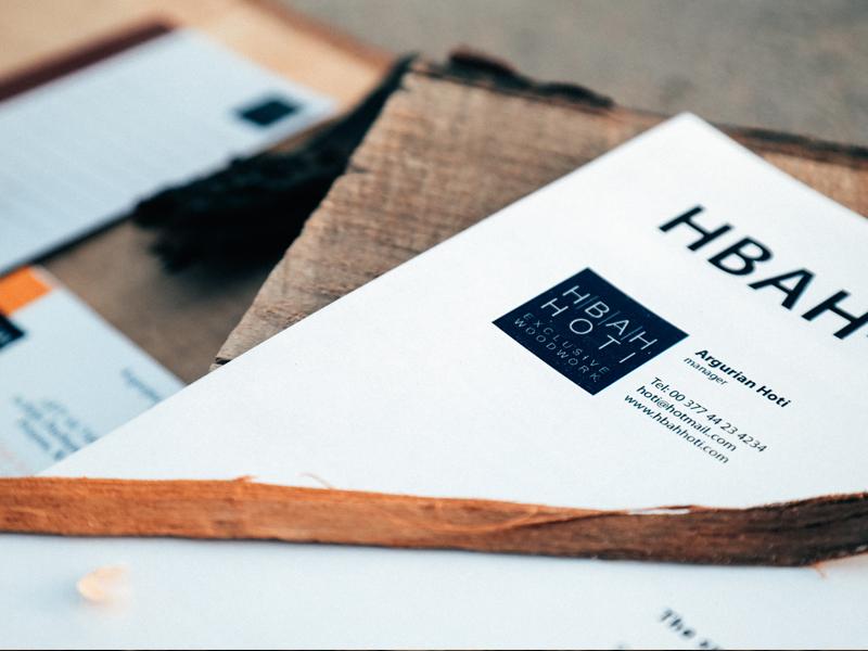 HBAH-HOTI Stationary logofolio color graphic design graphic graphic esigner inspiration poster typography furniture menu branding logo