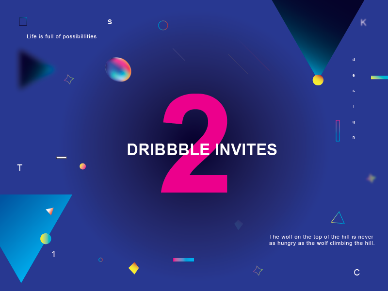 Dribbble Invites isometric invite invitation giveaway dribbble draft