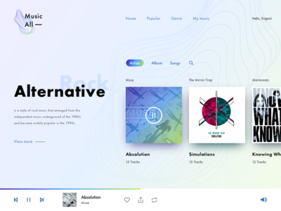 MusicAll - listening to music online