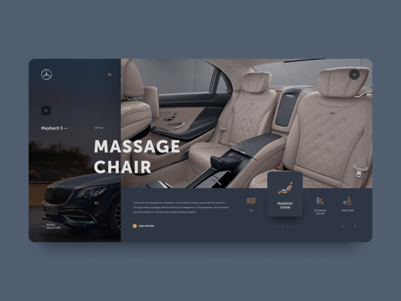 Mercedes-Benz — add option mercedes car webdesign ux ui