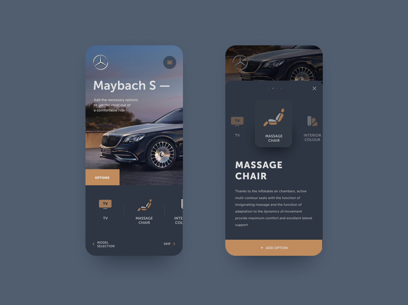 Mercedes-Benz — add option adaptive design webdesign mercedes car product ux ui