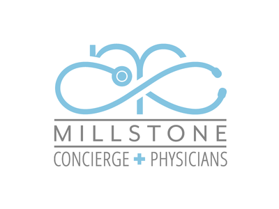 Millstone Concierge Physicians design graphic design concierge physicians stethoscope medical identity branding logo