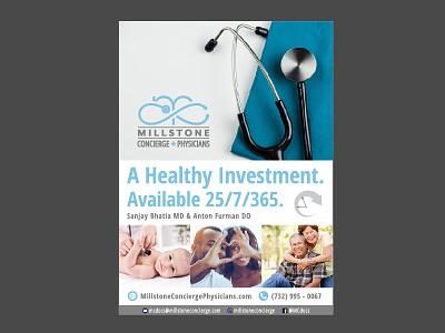 MCP Print Ad print ad marketing illustrator physician family logo stethoscope branding print ad advertisement medical