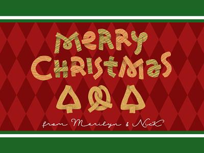 Hand Lettered Christmas Pretzels graphic design illustration illustrator cute label pretzels christmas design lettering hand lettering