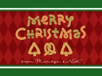 Hand Lettered Christmas Pretzels