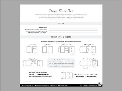 Design Taste Test invitation pocket maps rsvp custom design invitations wedding