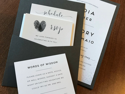 Well wishes designer design custom rsvp invitations wedding
