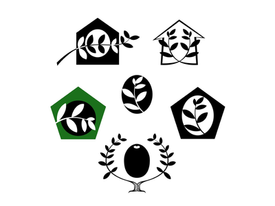 EVOO Logo Concepts home family evoo olive oil design identity branding logo designer logo