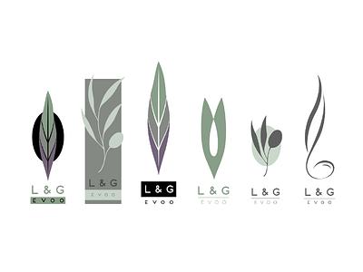 Olive Oil Logo logo design label olive oil identity natural leaf branding design logo