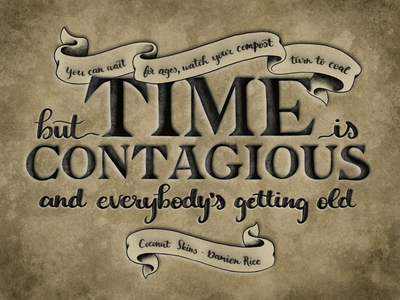 Time is Contagious practice procreate lettering procreate songlyrics lettering hand lettering