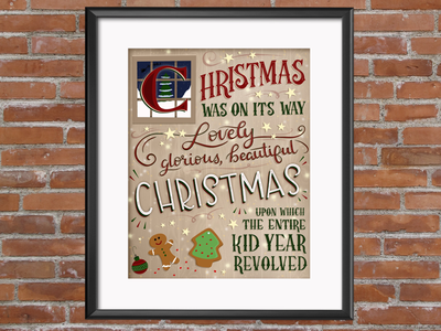 A Christmas Story Quote - Hand lettered