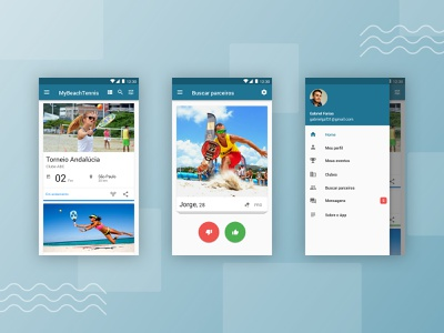 My Beach Tennis - Android App tinder sport app material design android app