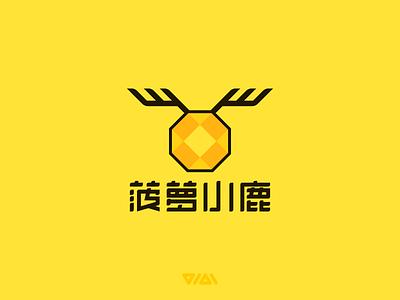 Pineapple Deer 菠萝鹿 logo design cartoon deer pineapple branding logo