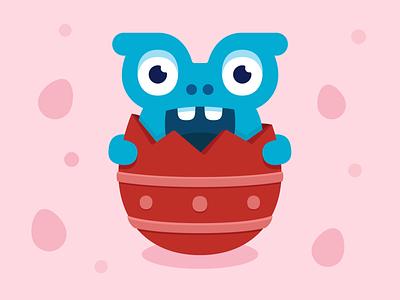 Easter monster branding chocolate egg cute easter egg easter design illustration vector character monster club monster