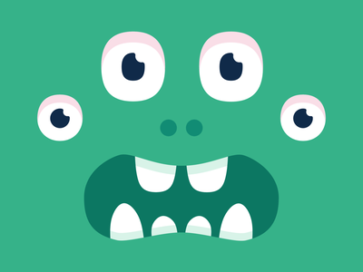 Scared monster colorful art eyes branding design illustration vector character monster club monster