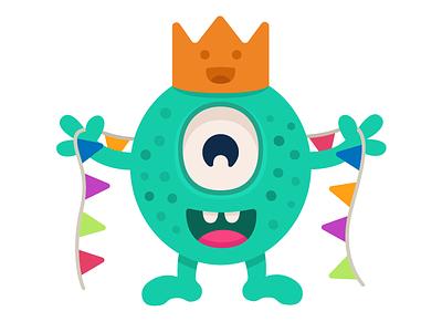 Birthday boy! gifts happy party birthday art branding design character monster club monster illustration vector