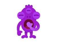 Tired monster