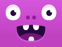 Happy monster head